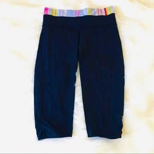 Lululemon Spring Stripe Black Workout Pants!